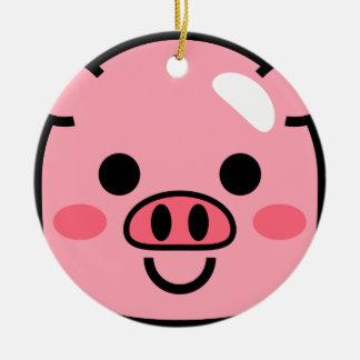 Piggy Ceramic Ornament
