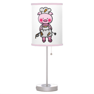 piggy chef table lamp