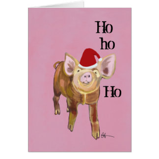 Piggy Christmas Greeting Note Card