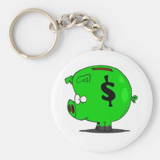 Piggy Collection Basic Round Button Keychain