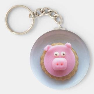piggy cookie basic round button keychain