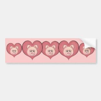 Piggy Face (temp) Bumper Sticker