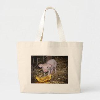 Piggy farm large tote bag