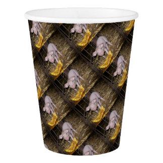 Piggy farm paper cup