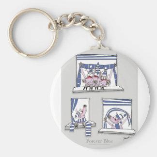 piggy forever blue keychain