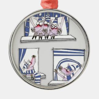piggy forever blue metal ornament