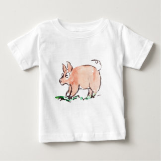Piggy Goes Oinking Here and There Baby T-Shirt