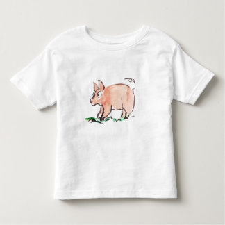 Piggy Goes Oinking Here and There Toddler T-shirt