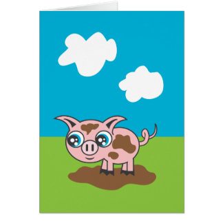Piggy Greeting Card