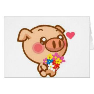 Piggy in Love Cards