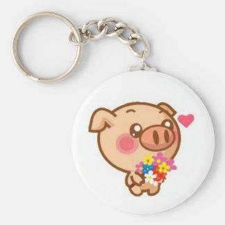 Piggy in Love Keychains
