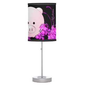 Piggy in purple table lamp