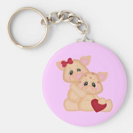 Piggy Kisses Key Chains