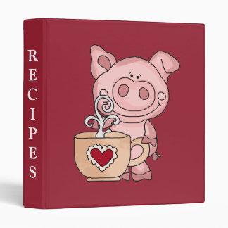 Piggy Kitchen Recipes Binder