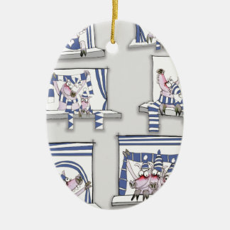 piggy matchday blues ceramic ornament