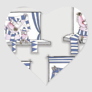 piggy matchday blues heart sticker