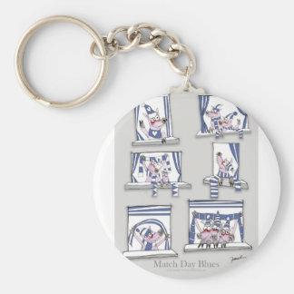 piggy matchday blues keychain