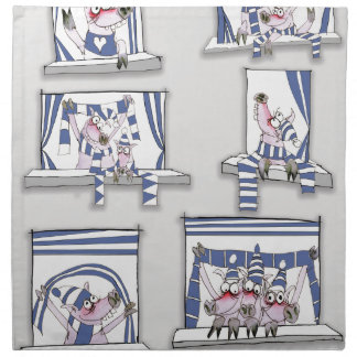 piggy matchday blues napkin