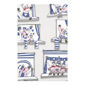 piggy matchday blues stationery