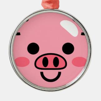 Piggy Metal Ornament
