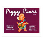 Piggy Pears Postcard