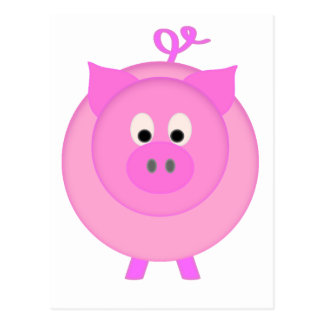 Piggy Pig Postcard