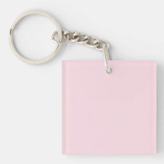 Piggy Pink Solid Color Square Acrylic Key Chain