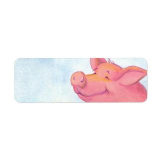 Piggy Pinkles / Return Address Avery Label Return Address Label