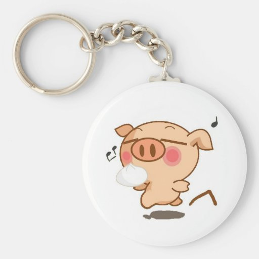 Piggy Pirouettes Keychains