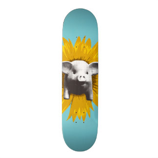 Piggy Sunflower Skateboard Deck