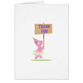 Piggy Thank You Card