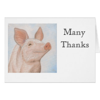 Piggy Thank You Notecard Greeting Card