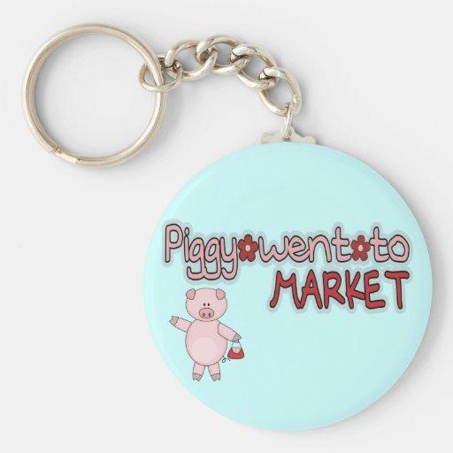 Piggy Went To Market Keychain