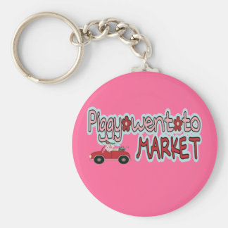 Piggy Went To Market Key Chain
