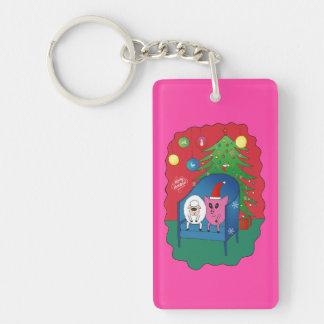 PiGgy with Sheepy! Acrylic Keychain