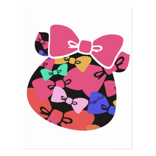Piggy's face-ribon- postcard