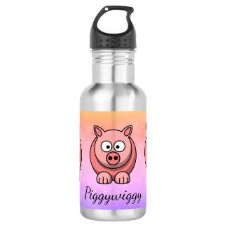 PiggyWiggy Little Pigling Pastel Cute Piglet 532 Ml Water Bottle