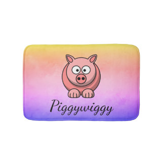 PiggyWiggy Little Pigling Pastel Cute Piglet Bath Mat