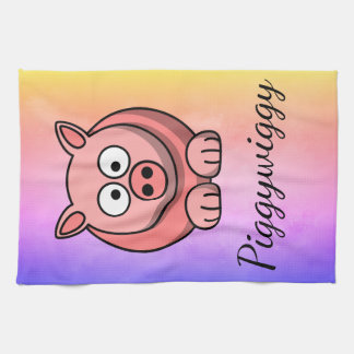 PiggyWiggy Little Pigling Pastel Cute Piglet Kitchen Towel