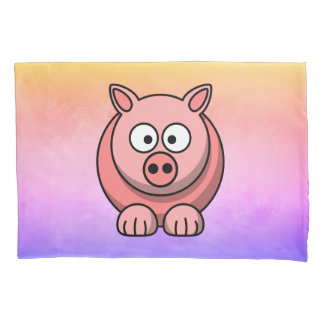 PiggyWiggy Little Pigling Pastel Cute Piglet Pillowcase