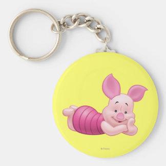 Piglet 1 basic round button keychain