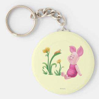 Piglet 2 basic round button keychain