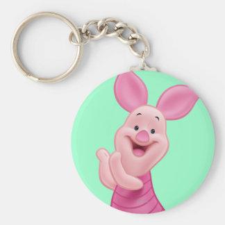 Piglet 7 basic round button keychain