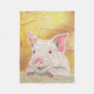 Piglet fleece fleece blanket