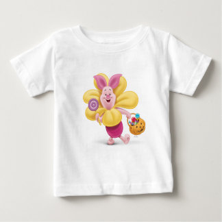 Piglet in Flower Costume Baby T-Shirt