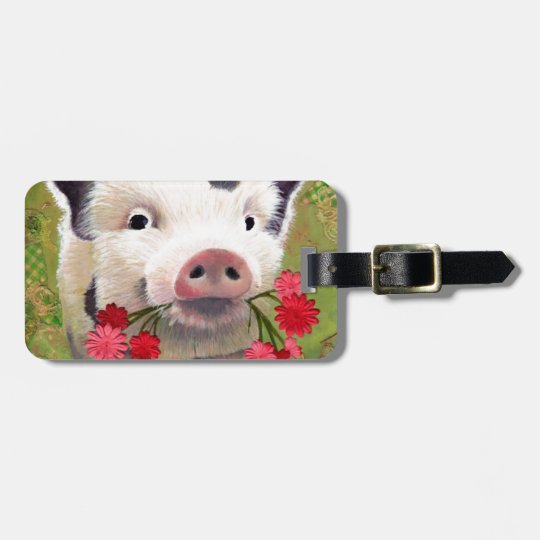Piglet Luggage Tag