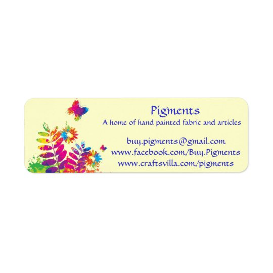 Pigments-Return address/product labels -customize