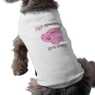 Pigs Are Friends, Not Food PETA Dog Tee Shirt