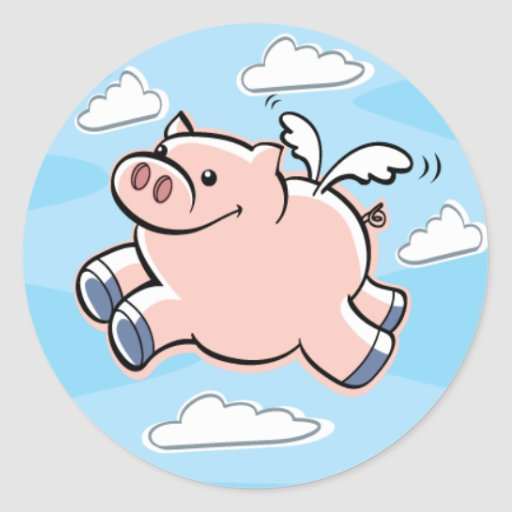 Pigs Fly Sticker