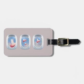 Pigs Flying Past Airplane Windows Luggage Tag